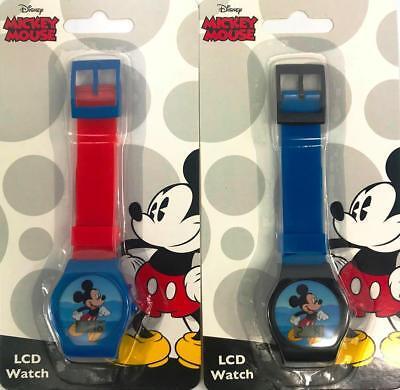 Mickey Mouse 2pcs Digital LCD Wrist Watch For Boy Girls Birthday  ()