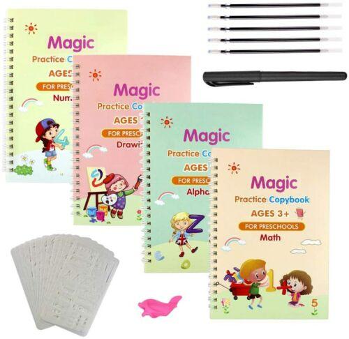 23Pcs Reusable Magic Practice Copybook for kids Set English Calligraphy Book