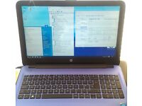 "Laptop HP 15-ac108na 15.6"" HD BrightView, only 12months old, +new Win10 +box, bargain!"