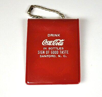 Coca-Cola Coke USA 1950er Schlüsselanhänger Münz Tasche Chain Pocket Key Dette