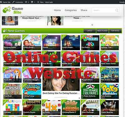 Online Game Website For Sale 100% Automated With 2 Months Free Hosting Adsense