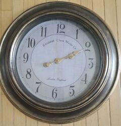 LARGE 24 Oversized Round Wall Clock ** Edinburgh Clock Works Co Beautiful