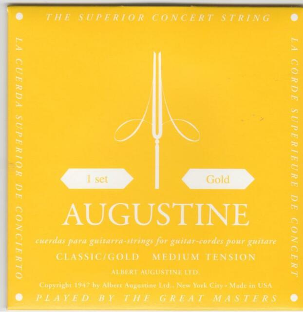 AUGUSTINE CLASSIC GOLD MEDIUM TENSION CLASSICAL GUITAR STRINGS .028 - .0445