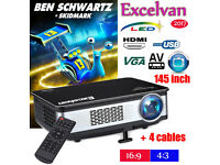 BRAND NEW,,Z720,EXCELVAN,Native Resolution: 1280,768,,And,3300 Lumens HD 1080P LED Projector
