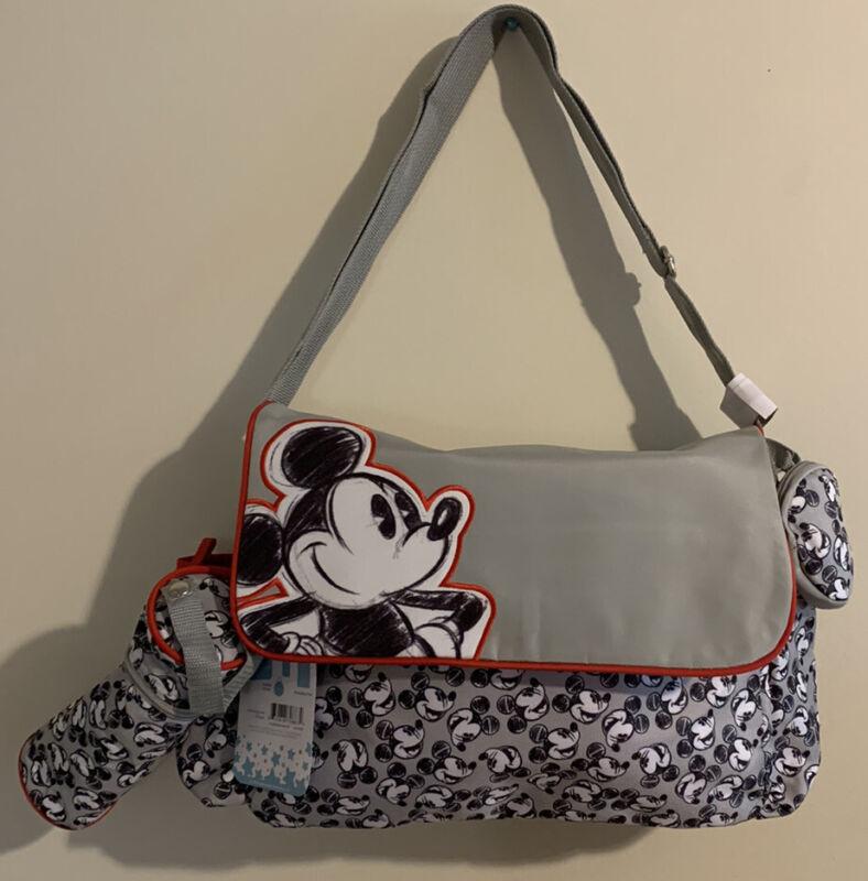 Disney Mickey Mouse Face Print 4-Piece Diaper Bag Set