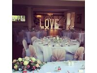 We can decorate your whole venue for less than £1050, adding the WOW to all your guests