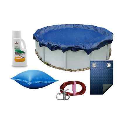 Pooltux 27' Winter Above Ground Round Pool Cover 10 YR + Magic Phosfree & Pillow