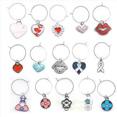 Mix Style Baby Animal Cartoon Wine Glass Charms Drink Markers Gift Charm Rings](Wine Glass Rings)