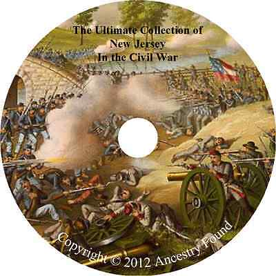 New Jersey in the Civil War - History & Genealogy - 15 books on DVD