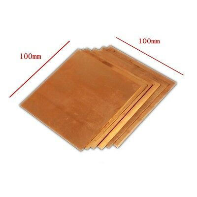 1pc 100mm 100mm X 1mm 99.9 Pure Copper Cu Metal Sheet Plate Freeship