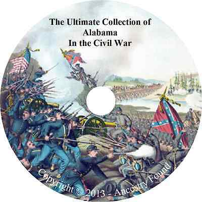 Alabama in the Civil War - History & Genealogy - 18 books on DVD