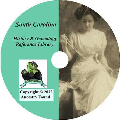 164 old books - SOUTH CAROLINA History & Genealogy on DVD