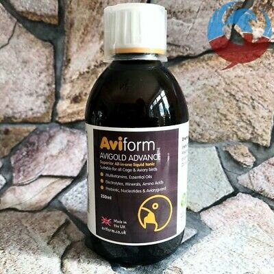 AVIFORM AVIGOLD ADVANCE 250ml ALL IN ONE LIQUID TONIC PIGEONS & CAGE BIRDS YBS