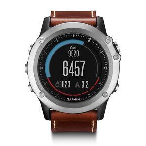 Garmin-Fenix-3-Sapphire-Multisport-Sports-Activity-GPS-Watch-Silver-Leather-Band
