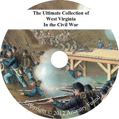 West Virginia Civil War Books - History & Genealogy - 12 Books on DVD
