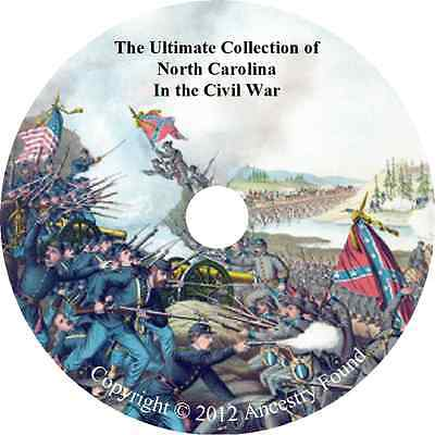 North Carolina Civil War Books - History & Genealogy - 18 Books on DVD