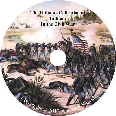 Indiana Civil War Books - History & Genealogy - 46 Books on DVD