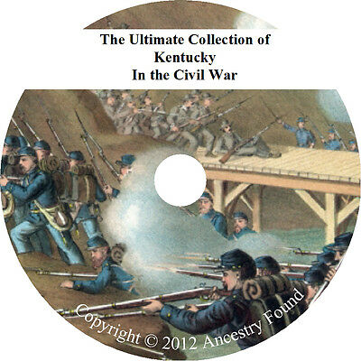 Kentucky Civil War Books - History & Genealogy - 18 Books on DVD