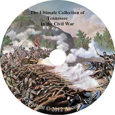 Tennessee Civil War Books - History & Genealogy - 25 Books on DVD