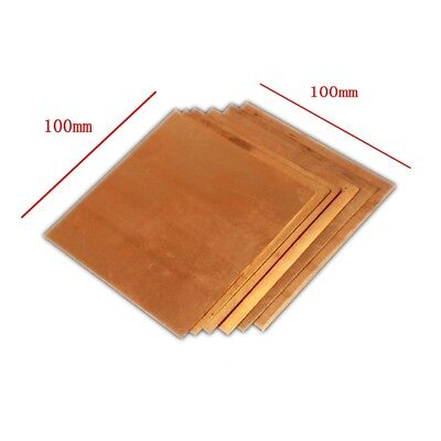 1pc 100mm 100mm X 0.5mm 99.9 Pure Copper Cu Metal Sheet Plate Freeship