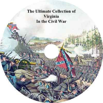 Virginia Civil War Books - History & Genealogy - 42 Books on DVD