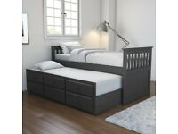 Oxford OXF019 Captains Guest Bed With Storage - Mattresses included