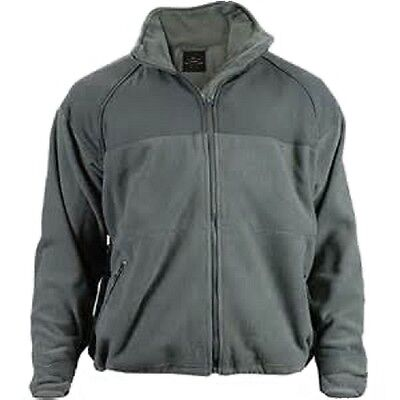 POLAR FLEECE JACKET Army USMC Navy GREEN Military Style ECWCS Liner Cold - Army Green Fleece Jacket