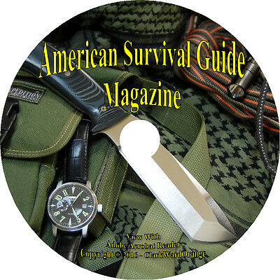 65 Issues on DVD American Survival Guide Magazine How to Books Food Prep Weapons