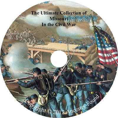 Missouri Civil War Books - History & Genealogy - 21 Books on DVD