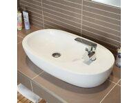 Better Bathrooms Rio Countertop Ceramic Basin White700mm New in Box RRP£79.99
