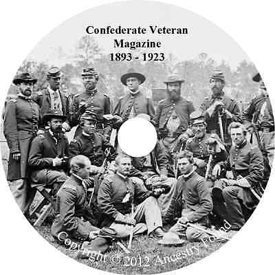 The Confederate Veteran - Civil War History & Genealogy - 372 Magazines on DVD