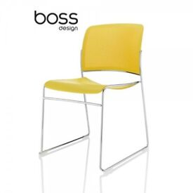 Stylish Boss Design Starr Yellow Designer Office / Conference Chair - I can deliver
