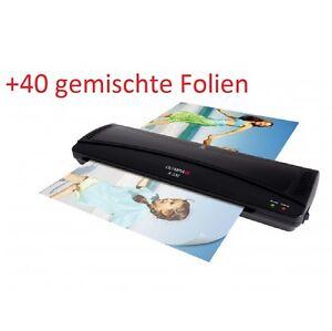 OLYMPIA-A-330-Laminiergerat-DIN-A3-schwarz-inclusive-40-gemischte-Folien