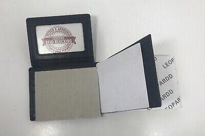 Leopardd Mens Wallet  RFID Blocking Napa Genuine Leather Bifold (damaged Box) - Mens Napa Leather