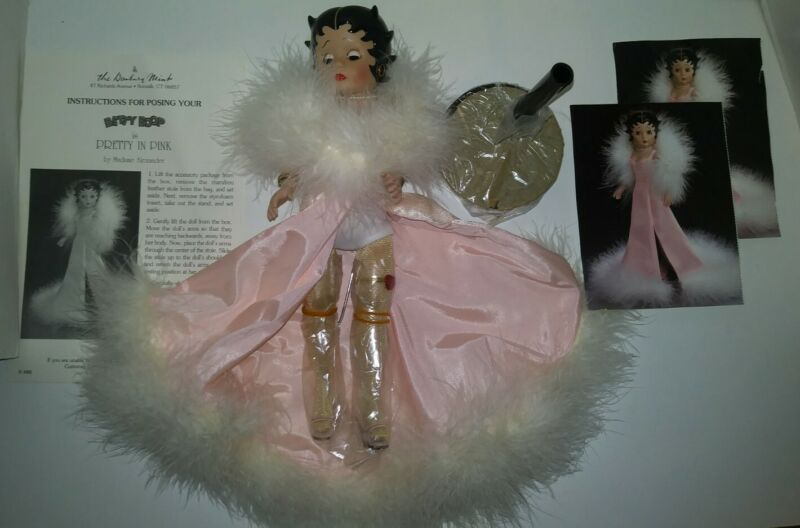 Betty Boop Collector Porcelain Figure Doll 11in Pretty In Pink Danbury VAULTED