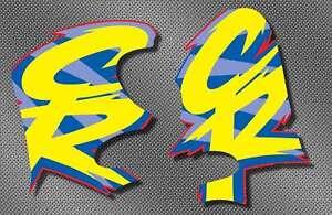 1994 94 honda CR 125 250 Radiator Shrouds Decals Stickers Graphics MX AHRMA