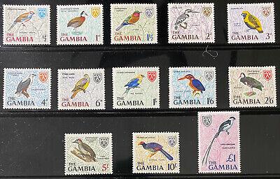 GAMBIA 215 - 227 Beautiful  Mint  NEVER  Hinged  Set