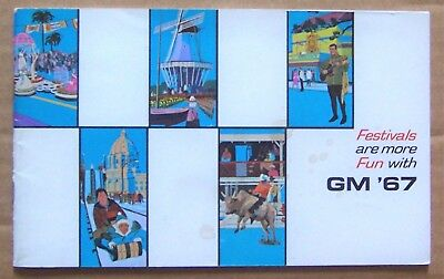 BOOKLET ~ 1967 GENERAL MOTORS ~ FESTIVALS ARE MORE FUN WITH GM '67