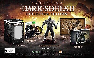 NEW Dark Souls II 2 Collector's Edition  (Xbox 360, 2014) Black Armor Statue Map comprar usado  Enviando para Brazil