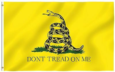 3x5 Gadsden Don't Tread on Me Flag 3'x5' House Banner grommets Super polyester