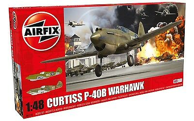 Airfix Curtiss P-40B Warhawk 1:48 Scale Plastic Model Plane A05130