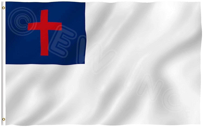 christian flag poly nylon 3x5 ft flag