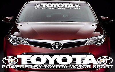 Custom Motorsports (TOYOTA MOTOR SPORTS Graphic Windshield Vinyl Decal Sticker Custom Vehicle Logo )