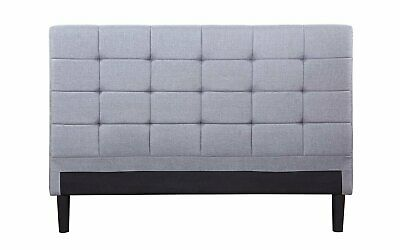 Classic Deluxe Tufted Grey Fabric Headboard