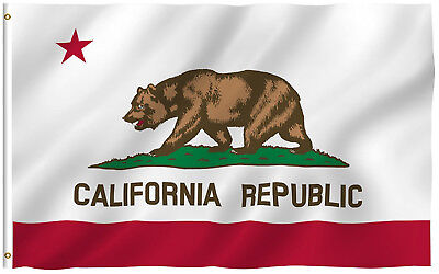 NEW California State Flag 100% All Weather Polyester  with Brass Grommets 3X5 ft