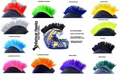 Helmet Hawks   Colorful Mohawk For Motorcycle Ski Snowboard Paintball Helmets