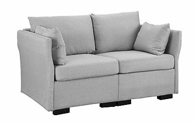 Contemporary Home Furniture Upholstered Loveseat 59