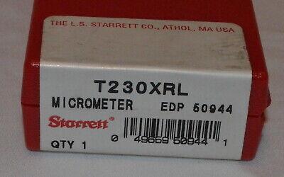 Starrett T230xrl Outside Micrometer New