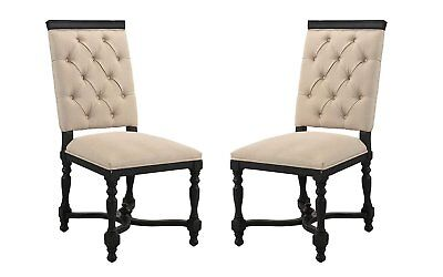 Victorian Tufted Dining Chairs, 2 Piece Set, - 2 Piece Dining Room Chair