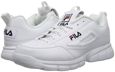 Fila Disruptor SE White Navy Red Mens Sneakers Tennis Fashion Shoes Sizes
